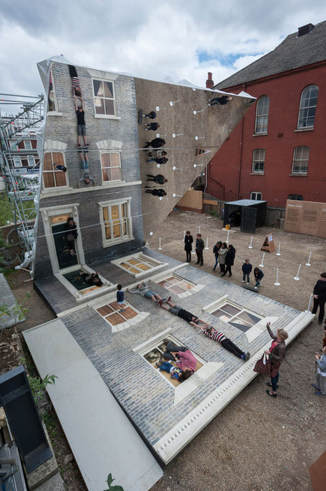 Are You Ready For A Walk On The Façade Of The 'Dalston House' By Leandro Erlich?  | Yatzer | CRAW | Scoop.it