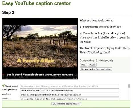 Créer des sous titres pour vos vidéos sans perdre 1 seconde - Korben | Outils FLE | Scoop.it