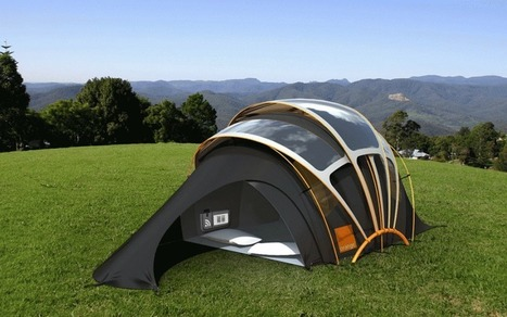 Solar Powered Tent - Cool Camping & Glamping Site | What's new in Design + Architecture? | Scoop.it