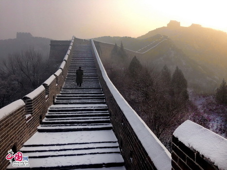 Jinshanling Great Wall in Winter - China.org.cn | Love is the only way of life , stay true to your love ones , | Scoop.it