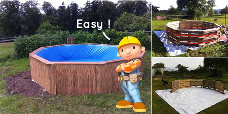 Avec 9 palettes de bois et un peu d'imagination, il crée sa propre piscine | Construction, entretien piscines | Scoop.it