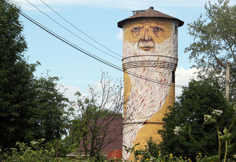The Living Wall: Russian street artist Nikita Nomerz turns derelict buildings into faces - Telegraph | Arte y cultura | Scoop.it
