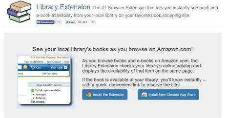 Library Extension : chercher un livre sur Amazon, le réserver en bibliothèque | BiblioLivre | Scoop.it