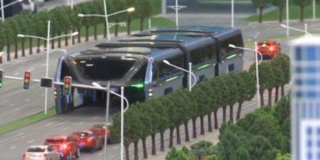 Un bus géant enjambeur testé cet été en Chine | Post-Sapiens, les êtres technologiques | Scoop.it
