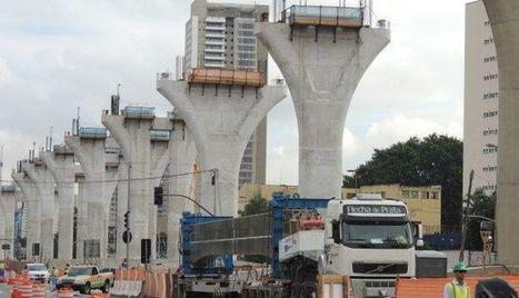 Brasil |Primeiras vigas da obra do monotrilho da Linha 17-Ouro, em São Paulo, são instaladas | Notícias-Ferroviárias Português | Scoop.it