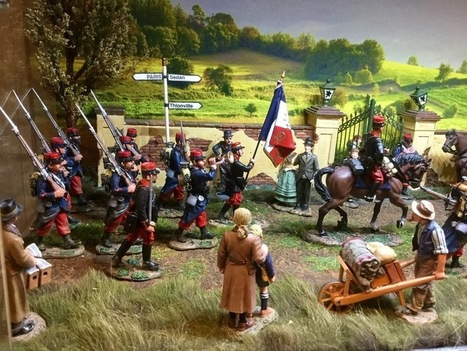 Two WWII dioramas with a new backdrops | Military Miniatures H.Q. | Scoop.it