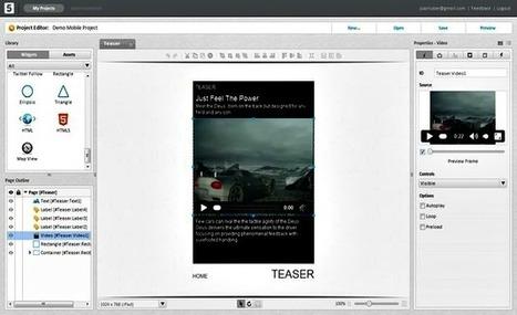5ml, editor visual online para crear fácilmente tus webapps móviles | Pizarra Digital | Scoop.it
