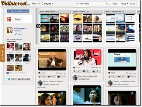 Vidinterest.com, pour classer ses vidéos en ligne | Outils en ligne pour bibliothécaires | Scoop.it