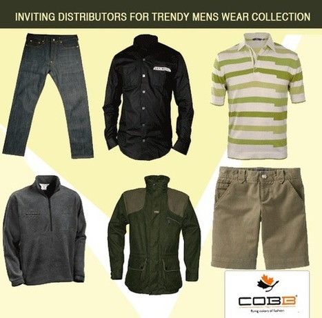 Join Hands to Excel- Cobb clothing invites Distributors for Menswear Collection | Become or Appoint Distributor, Franchisee or Sales Agent | Scoop.it