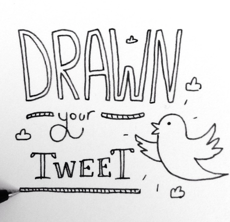 Il dessine les tweets des internautes | twitter : quels usages ? | Scoop.it