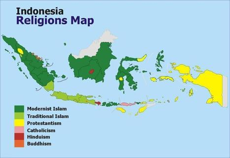 Religious map of Indonesia | Year 6 Geography: Peoples and cultures of Indonesia | Scoop.it