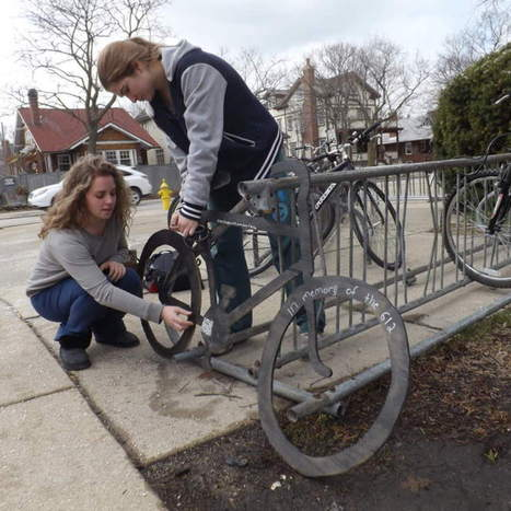 New Trier students honor fallen cyclists with shadow bikes - Winnetka Talk | QR Code Art | Scoop.it