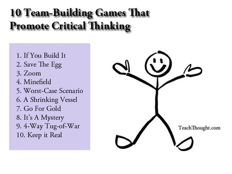 10 Team-Building Games That Promote Collaborative Critical Thinking | Film, Games and Media  Literacy | Scoop.it