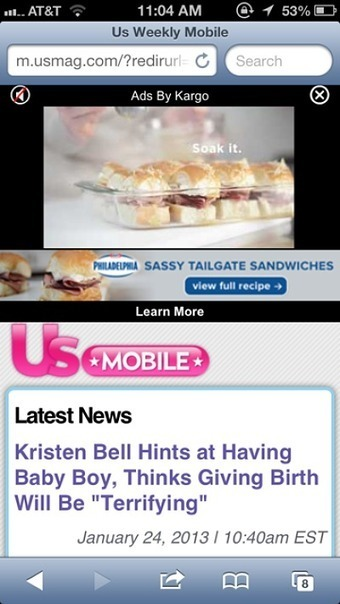 Kraft's Philadelphia flaunts products through mobile ads, video | Mobile & Magasins | Scoop.it