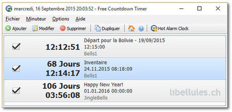 Free Countdown Timer | Chroniques libelluliennes | Scoop.it