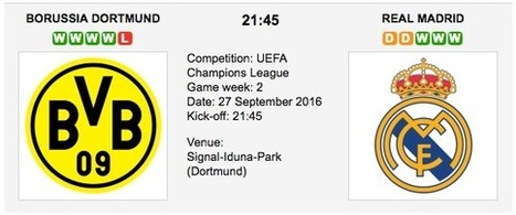 Dortmund vs. Real Madrid - Champions League Preview 2016 | ukbettips.co.uk | Scoop.it