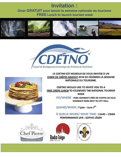 #YZF #NWT Invitation to a free crepe lunch to celebrate tourism week on June 7th   NWT News   Scoop.it