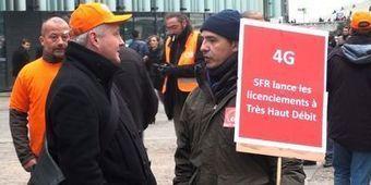 Les salariés de SFR manifestent pour la défense de leurs emplois   TELECOMS & NUMERIQUE   Scoop.it
