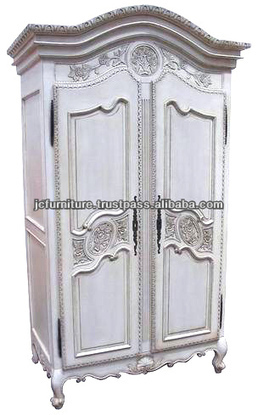 ANTIQUE FRENCH PROVINCIAL ARMOIRE WARDROBE WHITE PAINTED FURNITURE MAHOGANY HAND CARVED, View French Style Furniture, FRENCH STYLE WARDROBE 2 DOORS Product Details from CV. JEPARA CRAFTER FURNITURE... | Indonesian Teak Wood Furniture Indoor and Outdoor | Scoop.it