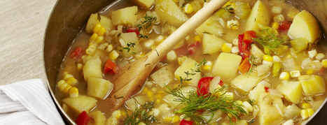 Lotsa Vegetable Chowder - Plant-Based Vegan Recipe | Vegan Food | Scoop.it