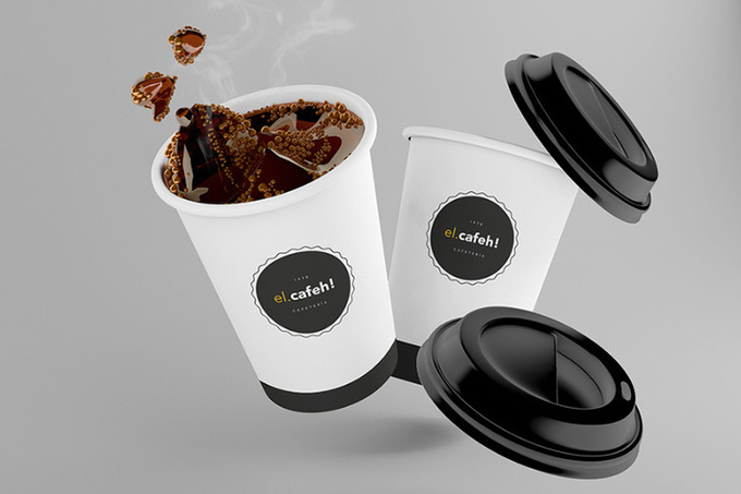 El Cafeh Free Coffee Cup Mockup - Free Design Resources