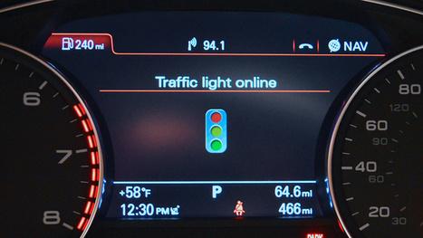 Audi's Traffic Light Assistance Ensures You Never Hit a Red Light | Highway Design | Scoop.it