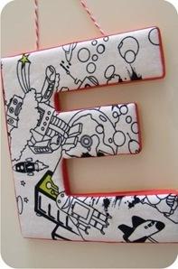 Tutorial: letra de mdf forrada com tecido » BananaCraft | Literacia no Jardim de Infância | Scoop.it