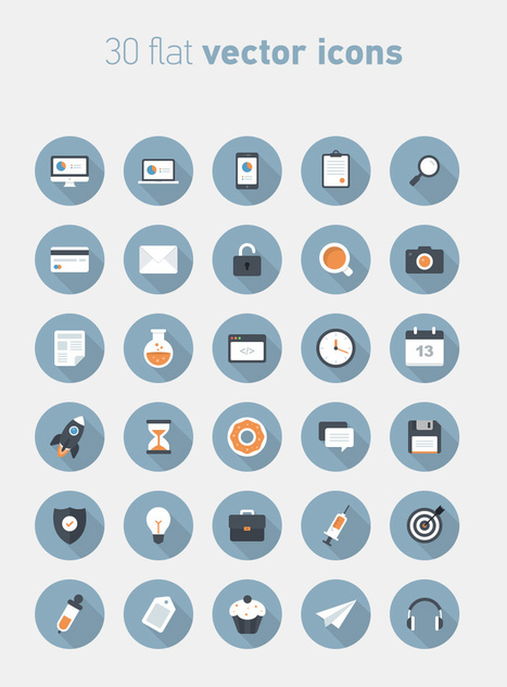30 Flat Circular Vector Icons | Marbella Ases Media | Scoop.it