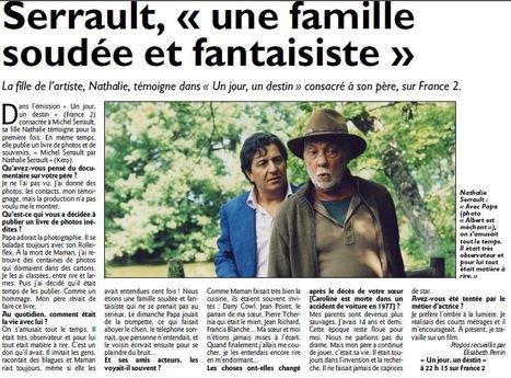 """TV Magazine - Michel Serrault par Nathalie Serrault: """"Un livre de photos et de souvenirs""""   Nathalie Serrault   Scoop.it"""