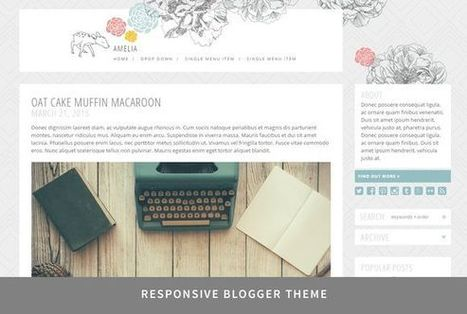 Amelia - Responsive Blogger Theme | Blogger themes | Scoop.it