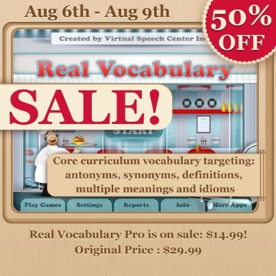 Real Vocabulary PRO app is on sale now for only $14.99 (regular price is $29.99). | Speech and Language Therapy Apps | Scoop.it
