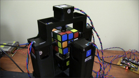 An Arduino Controlled Robot Capable of Solving a Rubik's Cube in Just Over One Second | Raspberry Pi | Scoop.it
