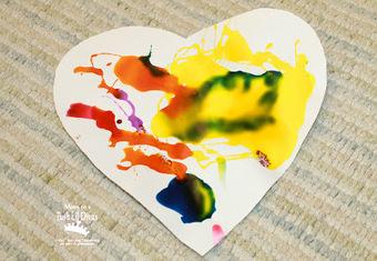 Mom to 2 Posh Lil Divas: Kids Art: Colored Glue Heart Art Valentines | Trabalhos Manuais no Jardim de Infância | Scoop.it