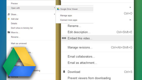 Embed Video on a Web Page with Google Drive | @GregEsteves | Scoop.it