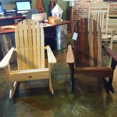 Come & relax in one our our Heartwood Adirondack rockers! #heartwood #rockerchairs | Heartwood | Scoop.it