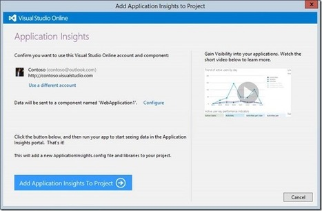 Application Insights Visual Studio Add-in preview - Brian Harry's blog - Site Home - MSDN Blogs | News de la semaine .net | Scoop.it