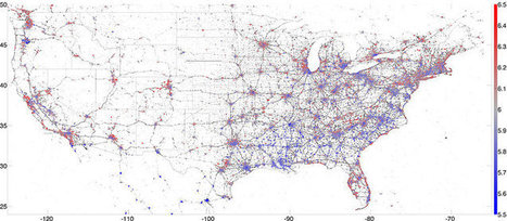 Mapcite's Location Intelligence Blog : Mapping Happiness In American Cities, Using Twitter | M@pping the World | Scoop.it