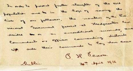 Padraig Pearse surrender letter to be auctioned for €1.5 million  | The Irish Literary Times | Scoop.it
