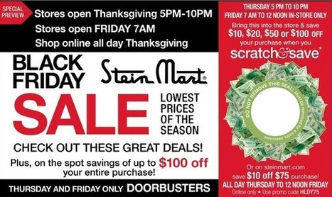 Stein Mart Black Friday 2014 begins Thanksgiving Day: 4 page ad released online | Great Coupons and Deals | Scoop.it