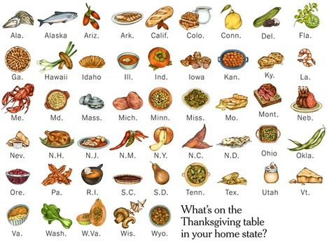 Thanksgiving Recipes Across the United States | Geography Education | Scoop.it