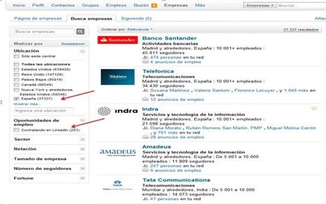Cómo detectar en Linkedin a las Empresas que están contratando | Social Media Today | Scoop.it
