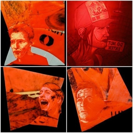 Portraits made from discarded traffic cones | Vdoop.com | Traffic Cones | Scoop.it