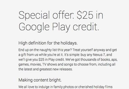 Buy a Nexus 7 tablet, get $25 in Google Play credit — Tech News ... | PC Tablets | Scoop.it