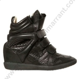 Cheapest Price To Buy For Sale LIUID-37H Isabel Marant 80mm Baya Calfskin Wedge Black Sneakers | sneakerisabelmarrant.com | Scoop.it