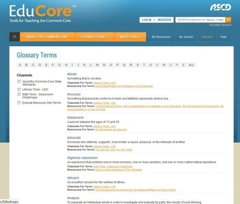 Common Core State Standards Glossary!   Common Core Meiller   Scoop.it