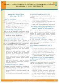 30. Principes pédagogiques de base pour l'enseignement-apprentissage  du FLS-FLSco en cours individualisé | Ressources pour le FLE | Scoop.it