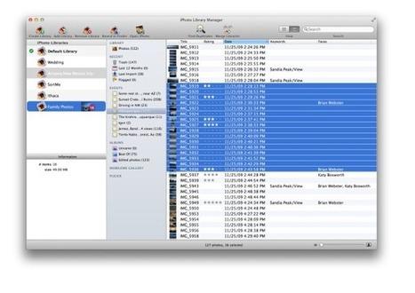 Review: iPhoto Library Manager, múltiplas bibliotecas sem múltiplos problemas | Apple Mac OS News | Scoop.it