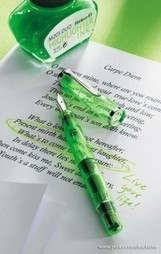 Pelikan Classic M205 DUO Highlighter Shiny Green Fountain Pen | Writing instruments | Scoop.it