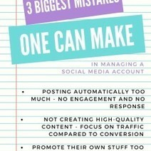 3 Biggest mistakes one can make in managing a social media account | Visual.ly | Mastering Facebook, Google+, Twitter | Scoop.it