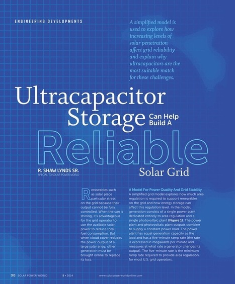 Ultracapacitor Storage Can Help Build a Reliable Solar Grid | Solar Power World | Ultracapacitors | Scoop.it